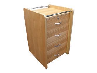 Cabinet bedside 4 Drw 'Kent - Wild Birch'