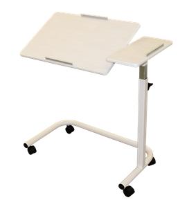 Split Tilt Top Overbed Table | Spring Adjustable