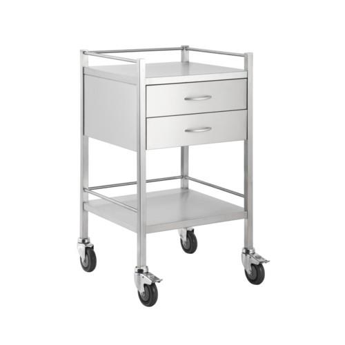 Stainless Steel Trolleys 2 Draw | Access Health