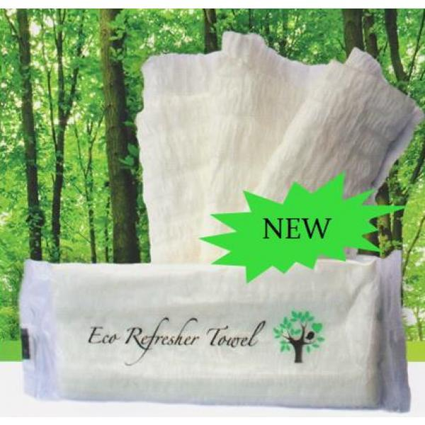 Single Pack of 100% Biodegradable Eco Refresher Towels | MADPAC