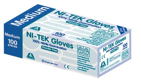 Ni-Tek Nitrile Examination Gloves